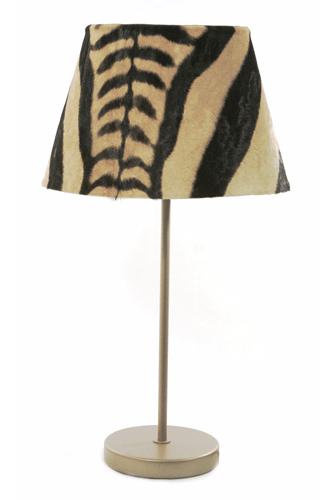 Zebra Table Lamp Large