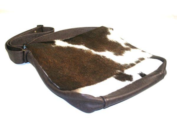cow fur man-bag