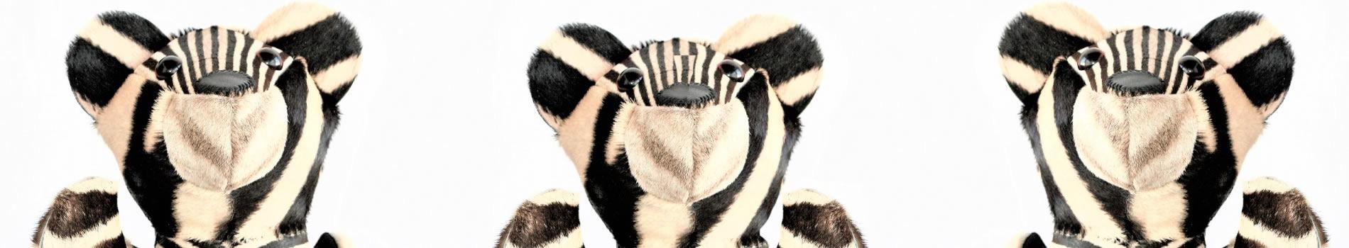 The Zebra teddy bear