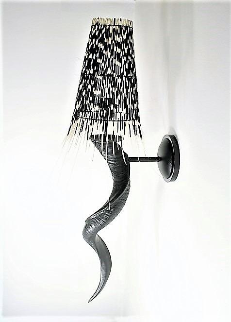 Elegant Kudu horn wall light