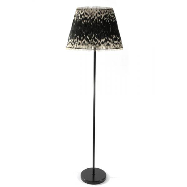 Porcupine quills floor lamp