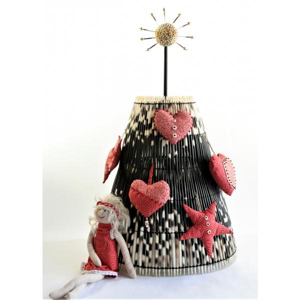 Porcupine quills & Shweshwe Table Decoration