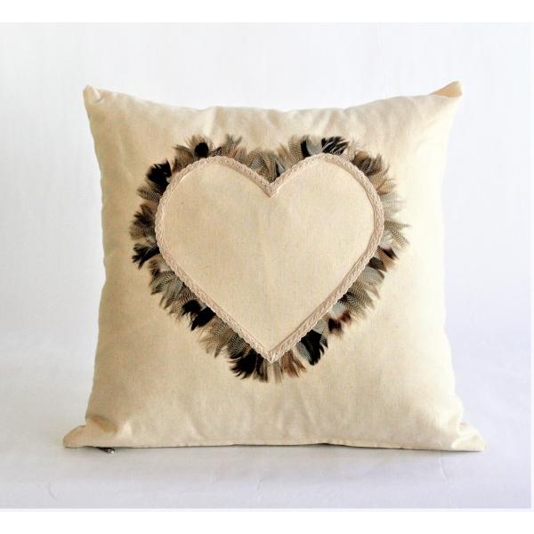Square cream hemp cushion